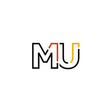 Letter MU Logo Icon Design Template Elements