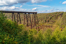 Skywalk At The Kinzua Bridge State Park In Pennsylvania