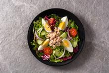 Salad With Tuna, Egg And Veget...