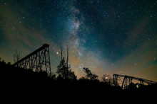 Kinzua Skywalk Under The Milky...