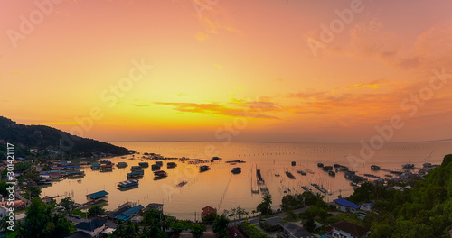 Poster Corail Scene of beautiful sunrise in the morning.