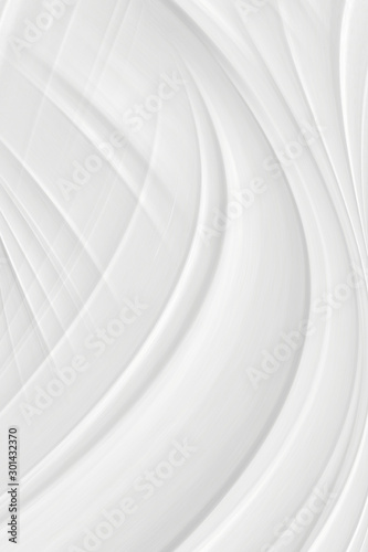 In de dag Abstract wave White background 3 d with elements of waves in a fantastic abstract design, the texture of the lines in a modern style for wallpaper. Light gray template for wedding ceremony or business presentation.