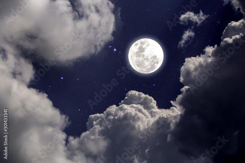 Fototapety, obrazy: full moon in the sky