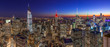 New York City manhattan skyline sunset evening