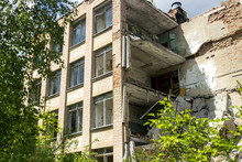 The Ruins Of Residential Build...