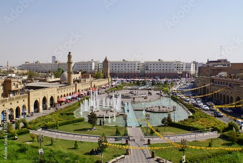 Photo View of the Main Square of Erbil in Iraq