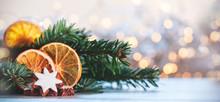Christmas Background With Cinn...