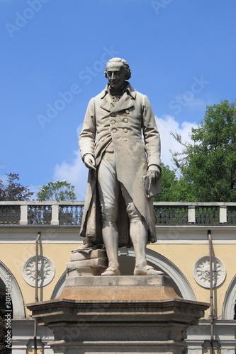 Monument to Giuseppe Luigi Lagrange in Turin, Italy Tableau sur Toile