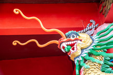 Dragon Image In A Buddhist Tai Temple