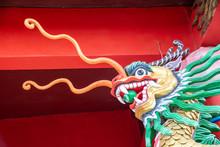Dragon Image In A Buddhist Tai Temple