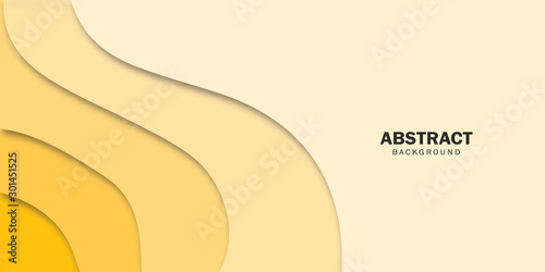 Fototapety, obrazy: Yellow design concept abstract background.