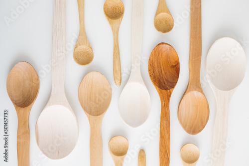 Pinturas sobre lienzo  Assortment of wooden spoons