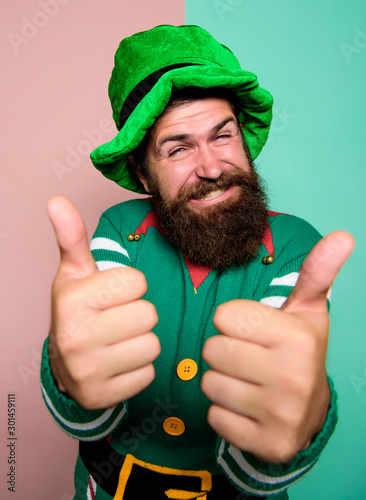 Cheerful man celebrate holiday Poster Mural XXL