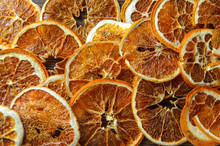 Dried Orange On A Wooden Table In The Kitchen2