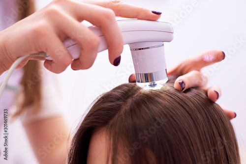 Cuadros en Lienzo Diagnostic complex for microscopic examination of hair and skin of the scalp