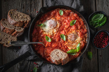 Homemade Shakshuka With Tomato...