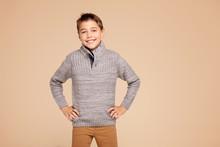 Fashionable Happy Teen Boy Pos...