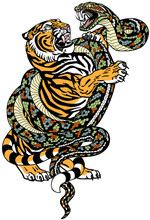 Fight Between Tiger And Snake....