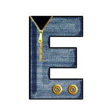 Isolated 3d Alphabet With Gold...