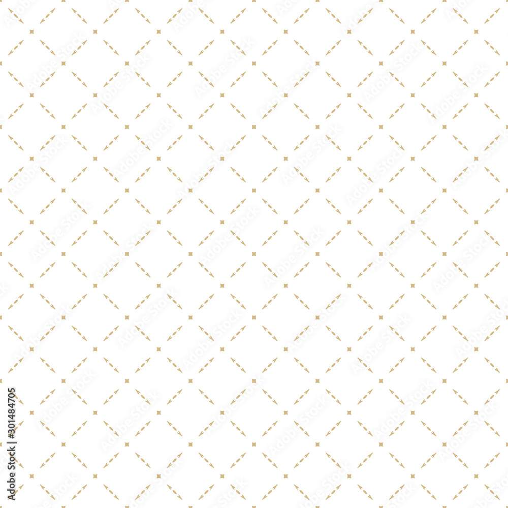 Fototapeta Luxury vector texture. Gold and white abstract geometric seamless pattern