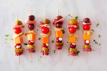 Skewered Party Appetizers With...