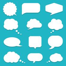 Set Of Speech Bubble, Textbox ...