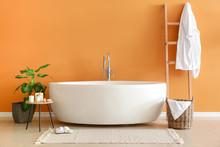 Modern Bathtub In Stylish Interior