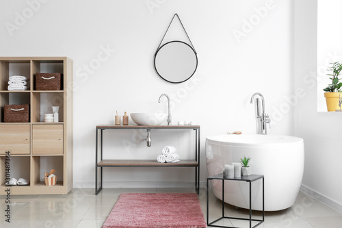 Interior of modern clean bathroom Tablou Canvas