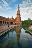 Seville Plaza de Espana over water