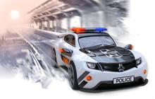A Police Car Of An Original De...