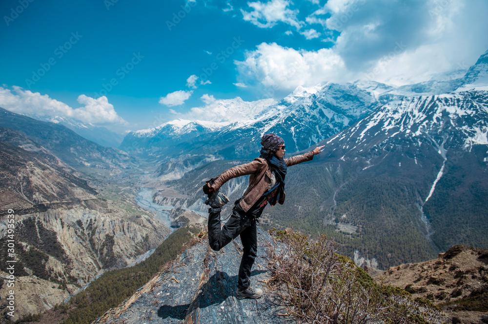 Fototapety, obrazy: Annapurna Circuit trek. Nepali Himalayas.