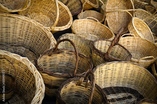 Fotomural  Hand wowen wicker basket texture background
