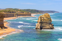 One Of The Famous Limestone Rock Stacks Off The Shore Of Port Campbell National Park - Port Campbell, Victoria, Australia