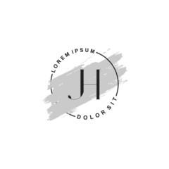 Fototapeta na wymiar Initial letter JH beauty fashion, make up logo