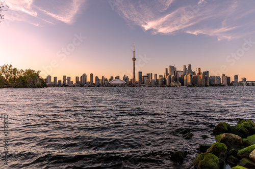Toronto Skyline at sunset Wallpaper Mural