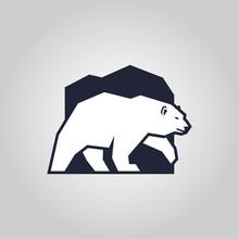 White Bear. Polar Bear Silhoue...