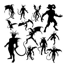 Devil Silhouettes. Good Use Fo...