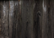 Old Boards . Textured Wooden Old Background With Vertical Lines. Cyan Wooden Planks Close Up For Your Design. Grey  Many Times Painted Old Wall With Lagged Fragments Of Pai