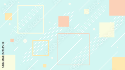 Obraz abstract pastel color  background geometric vector template - fototapety do salonu