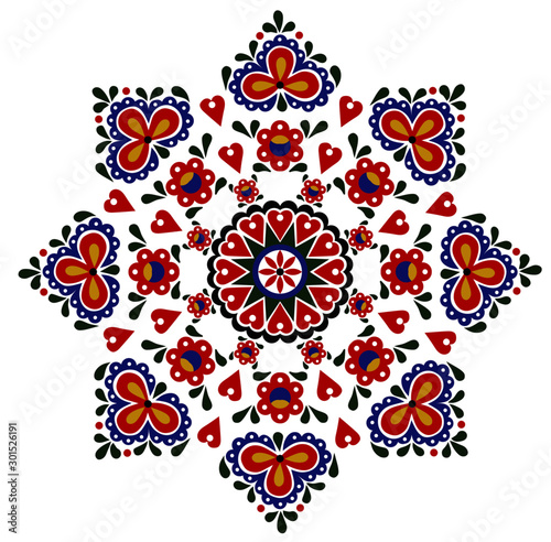 colorful-pattern-folk-ornament-on-a-white-background