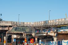 Demolished Bridge. Destroyed B...