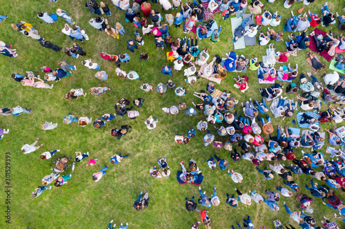 Tatarstan, Russia, July 10, 2019: large crowds in nature Fototapet