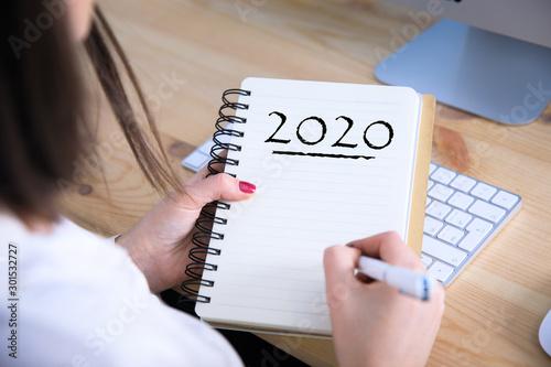 Fotografía  woman hand 2020 text
