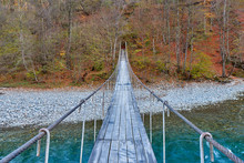 Suspension Bridge Over A Mount...