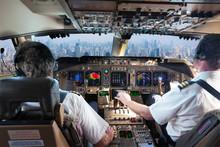 The Cockpit Of A Modern Passen...