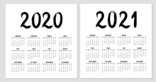 Calendar 2020 Template For Wall, Business, Print. Week Starts From Sunday.