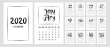 Calendar 2020 Template With Ha...