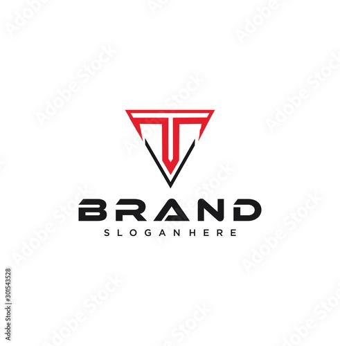 Creative Triangle Letter T Logo Design Inspiration Vector Illustration Fototapeta