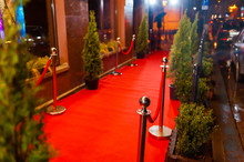 Empty Red Carpet Before Opening Ceremony