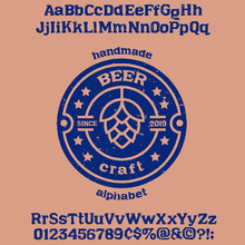 """"""" Beer """" Typeface. Vector"""